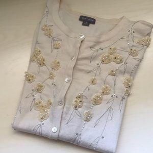 Ann Taylor vintage inspired sequin cardigan